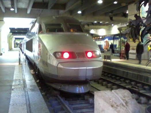 La rame TGV n°302 à Montparnasse