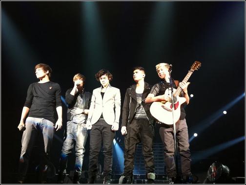 _ One Direction performing Grenade in Brighton last night!_