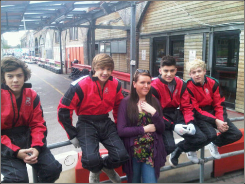_ The boys at go-karting _