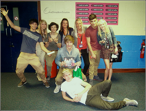 _ One Direction crew with their fans_