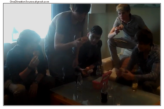 _ One Direction challenged to a donut eating competition !_