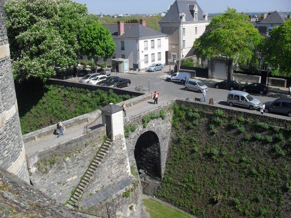 """Chateau d""""Angers Vu du Haud"""