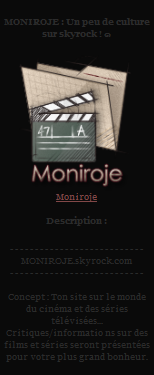 MONIROJE  Ta critique de film :)