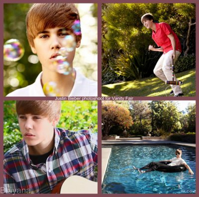 Justin Bieber photoshoot for Vanity Fair