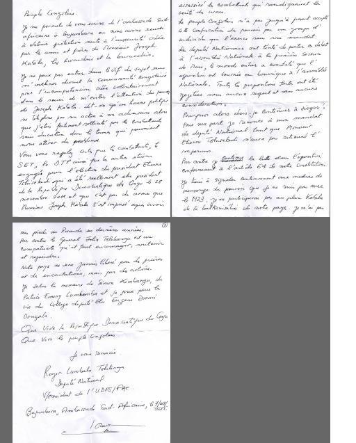 MESSAGE de Roger LUMBALA au Peuple Congolais