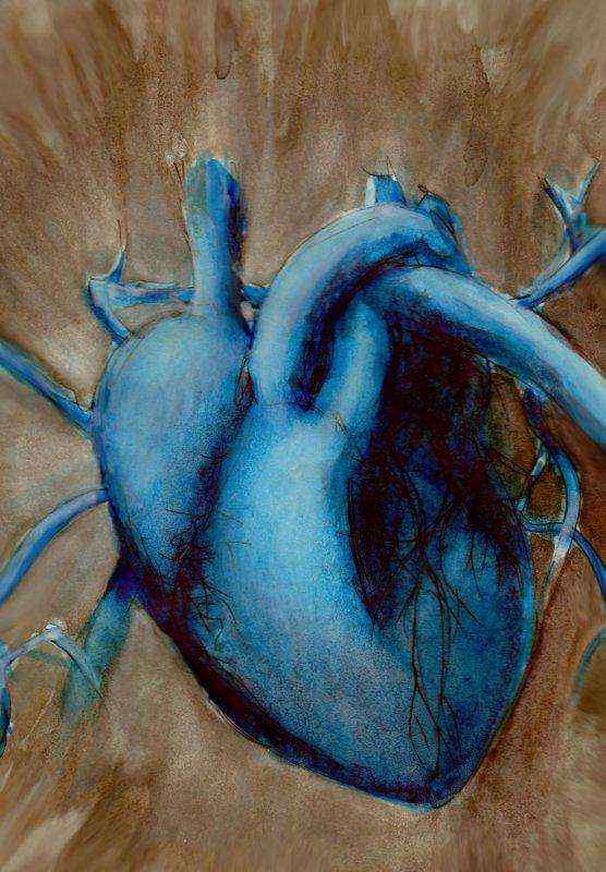 A blue heart