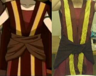 Avancement du cosplay de Toph Bei Fong  (Nation du Feu)