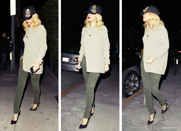 01 Mars : Rihanna quittant le restaurant Giorgio Baldi