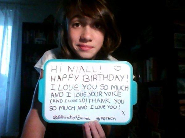 #Projet d'anniversaire Niall_ 2013