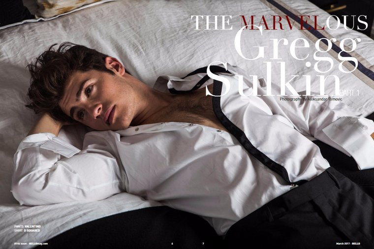 Gregg Sulkin - Bello Magazine