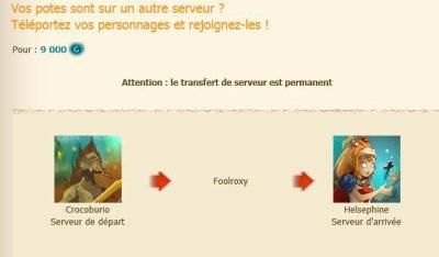 Inactivité de la team - Commerce - Transfert