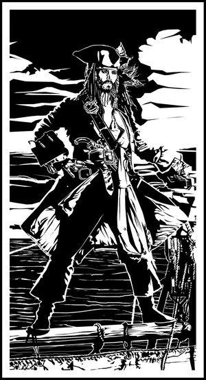 Dessins du Capitaine Jack Sparrow