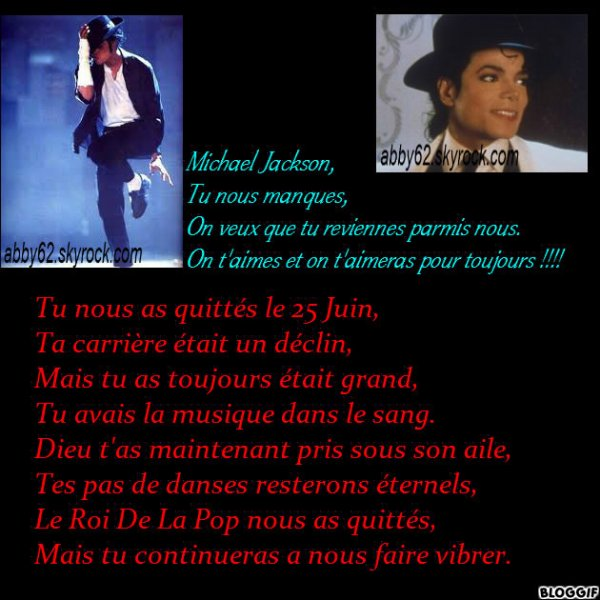Montage Et Poème Michael Jackson Blog De Abby62