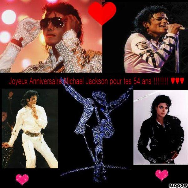 Bon anniversaire Michael Jackson pour tes 54 ans !!!!