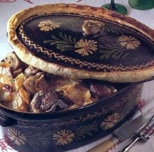 Recette et spécialité culinaire d'Alsace                   Baeckeoffe