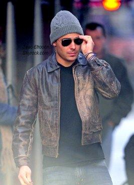 23/02/11 : Zac sur le tournage de son nouveau film New Year's Eve