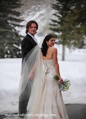 Jared Padalecki et Genevieve Cortes à leur mariage