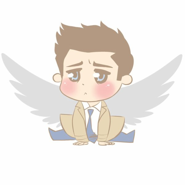 Baby Cas in the trenchcoat