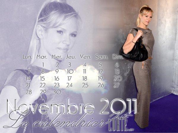 Calendrier du mois de NOVEMBRE  2011