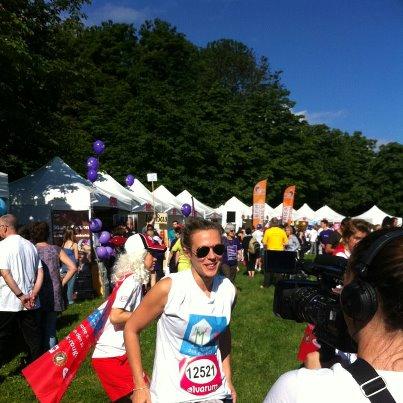Lorie a la course des héros le 17 juin 2012