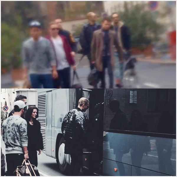 9 081 / 17.03.2015 - Le groupe arrivant à la salle à Milan.
