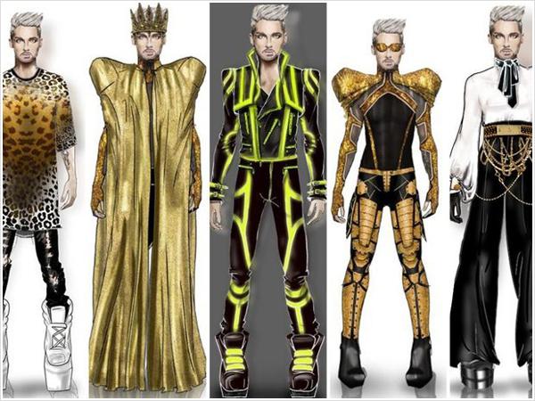 9 088 /  Gala – Exclusif : Bill Kaulitz a créé lui-même ses costumes de scène.
