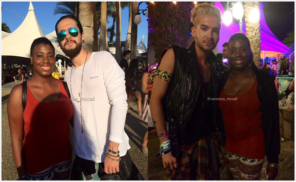 9 189 / 12.04.2015 - Bill & Tom avec une fan à Coachella (Indio).