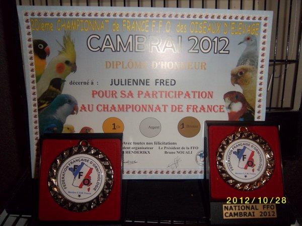 Recompense du championnat de france FFO 2012