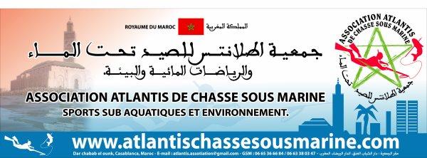 Voici notre paneau et loguo de l'association atlantis de chasse sous marine -du maroc.