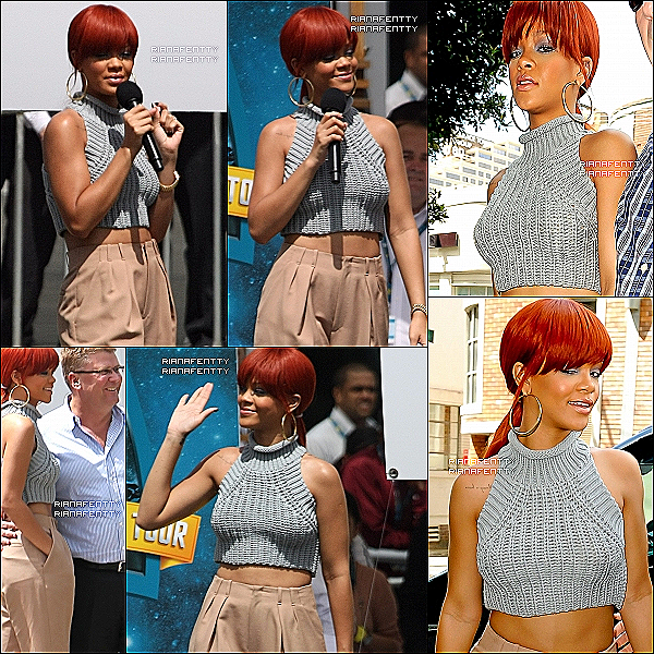 . 3 mars 2011 : Rihanna s'est rendu organisé par Optus. Elle a interpreté 3 chansons, ensuite elle est aller manger. .