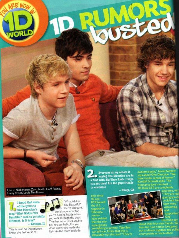 04 Mai 2012 - Les garcons dans un magazine.