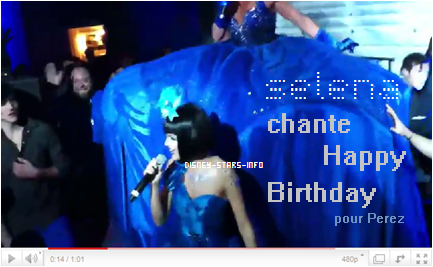 Selena dans la Birthday Party de Perez Hilton