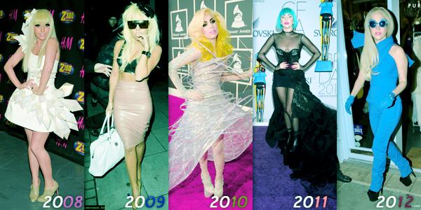 N°7 ~ Lady Gaga en 4 ans