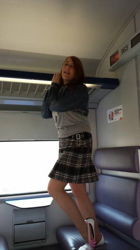 tit delire dans le train