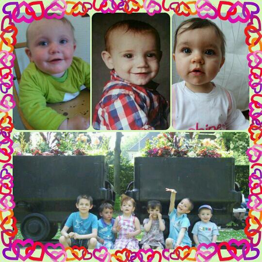 Mes garçons avec leur cousins cousines
