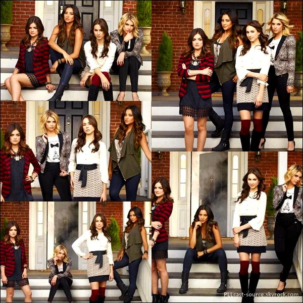 News PLL Voici enfin des aperçus de photoshoot pour la promo de la saison 4.
