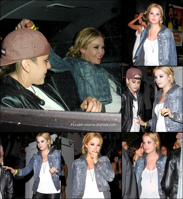 "04/05/13 Ashley quittait le club ""bootsy bellows"" avec des amies à LA."
