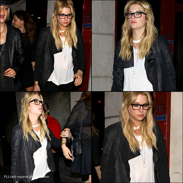 09/05/13 Ashley quittait le sayers club à LA où elle fêtait le birthday d'un ami.