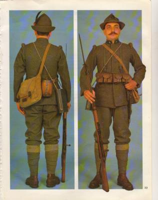 La tenue de Lazare Ponticelli dans l'armée italienne