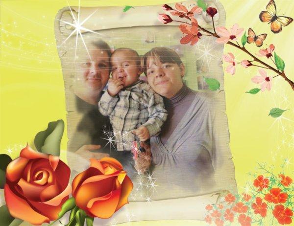 petit montage ma petite famille mon homme mon fils et moi