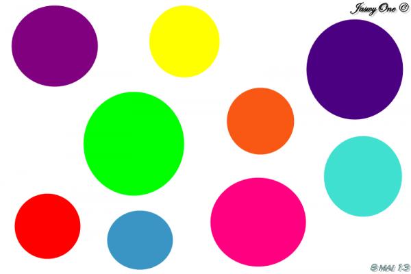 Juste une envie de cercles colorés :)