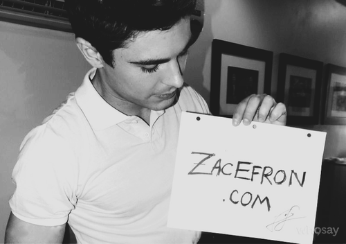Site officiel Zac ; Elle DeGeneres show ♥