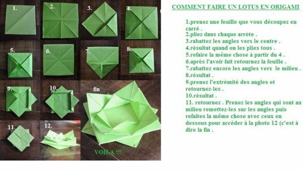 Comment faire un lotus en origami blog de a n never forget me87 - Origami fleur de lotus ...