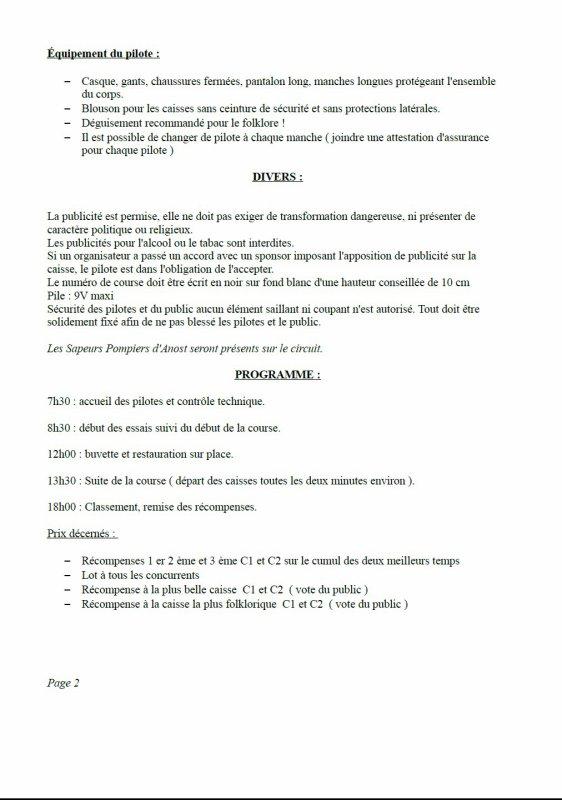 """Règlement course caisse à savon 27 août 2017 """" préparez vos bolides pour l'été 2017 ! """""""