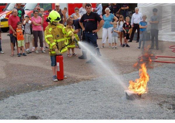 80° anniversaire du centre d'incendie et de secours d'Anost LEJSL 2°