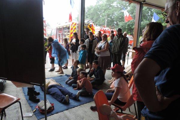 80° anniversaire du centre d'incendie et de secours d'Anost