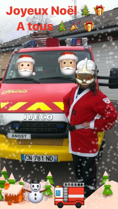 L'ensemble du personnel du centre d'incendie et de secours d Anost vous souhaitent de bonnes fêtes de fin d'année