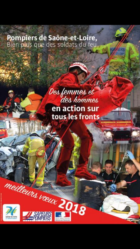 L 'ensemble du personnel du centre d incendie et de secours d Anost vous souhaitent une bonne année 🎈🎆🎊 2018 🚒🎉