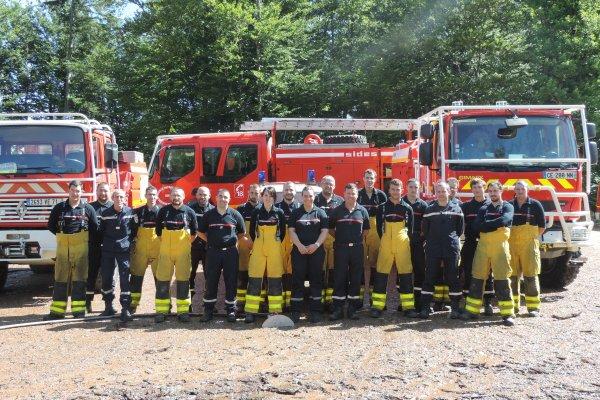 Exercice feu de forêt Planchez (58) CIS ANOST et OUROUX en MORVAN (58)
