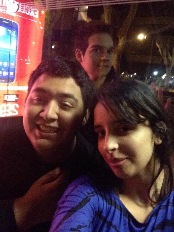moi et mon meilleure ami avec une copine